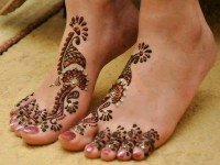 Latest Foot Mahndi Designs 2013