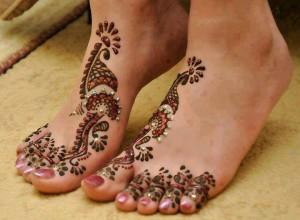 Latest Foot Mahndi Designs 2013