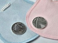 Silver penny minted to mark royal birth