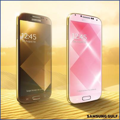 Samsung Galaxy Announces Gold Galaxy S4
