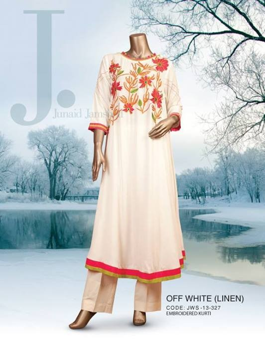 Latest Junaid Jamshed Fall-Winter Dresses Collection-2014