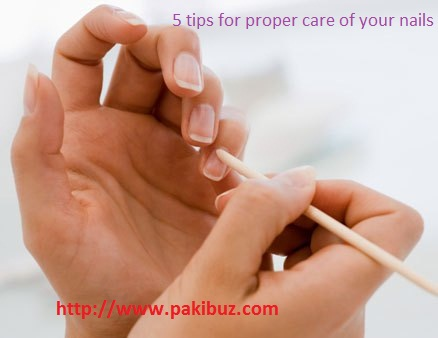 5 tips for proper care of your nails