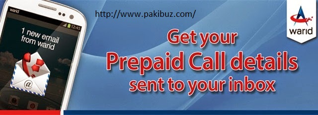 Get Call and SMS Details On Warid Users