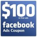Free Facebook Coupon $100 Ads