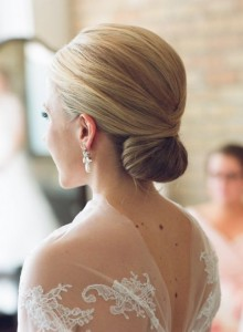 bun style Wedding Hairstyle for Bridal 2015