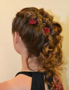 bun bridal wedding hair style 2015