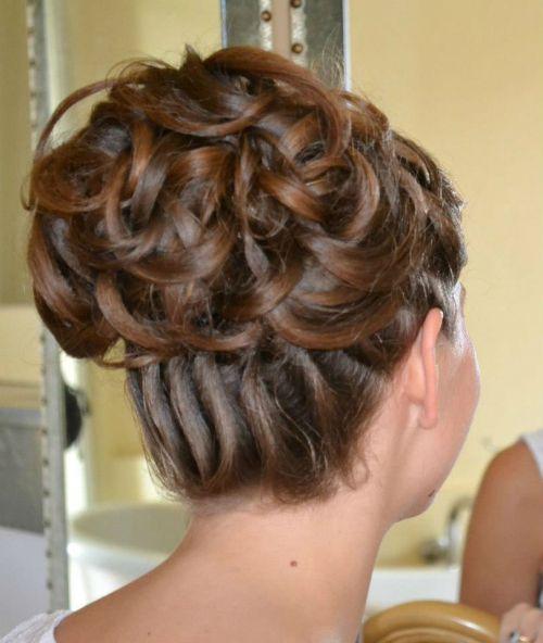 bun latest bridal wedding hairstyles 2015 |