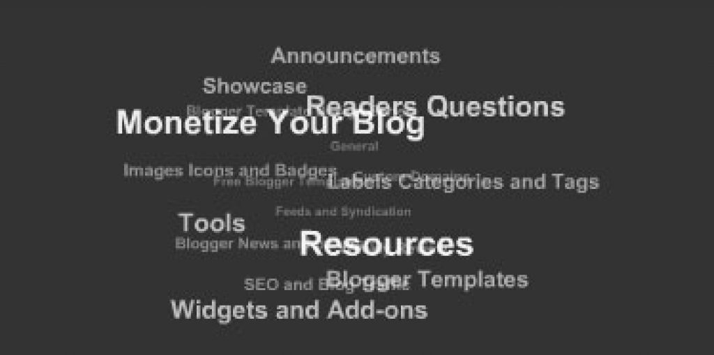 Animated label cloud blogger