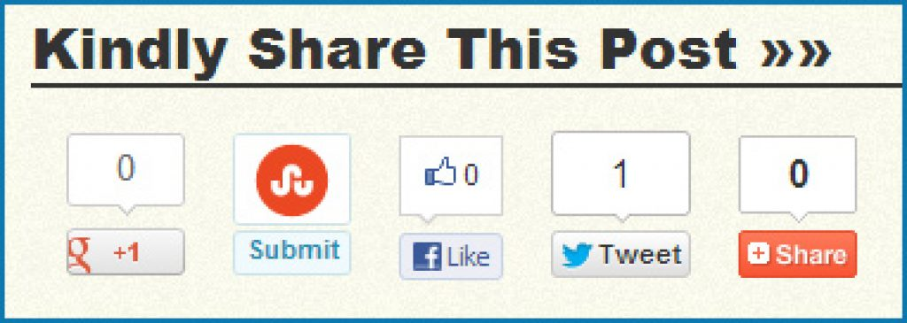 How to Add Social Sharing Buttons Below Each Post In BLogger