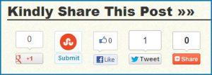social media sharing widget