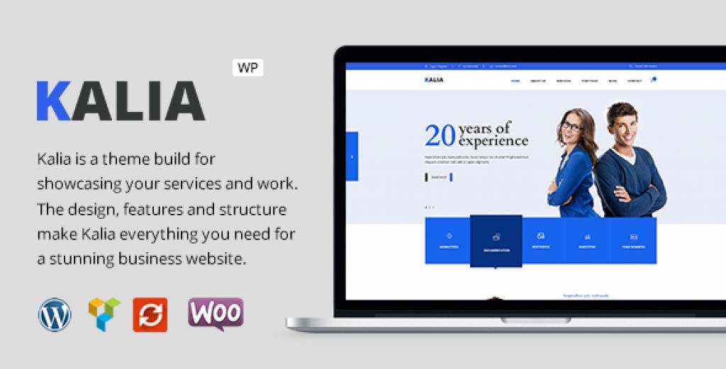 Kalia – Modern Business WordPress Theme Free Download