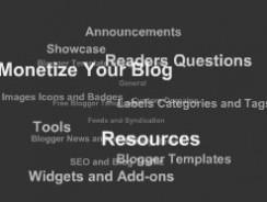 Stylish Label Cloud Widget for Blogger