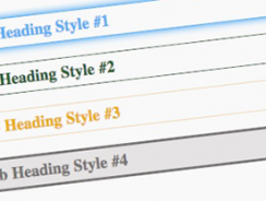Cool CSS Heading Styles Examples Code